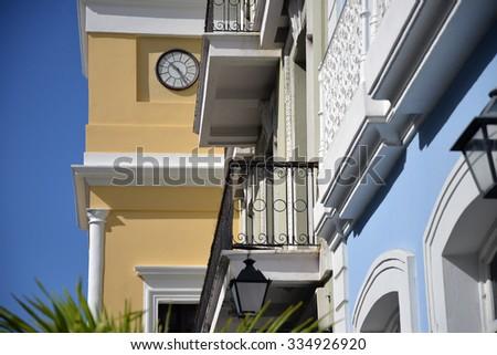 building details in Old San Juan, Puerto Rico - stock photo