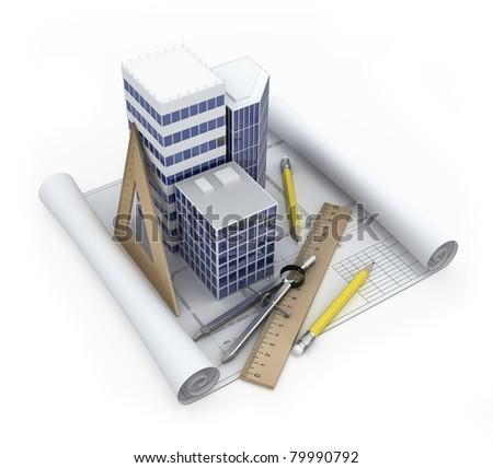 Building development concept - stock photo