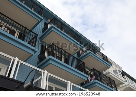 Building exterior at Bar Harbor, Maine - stock photo