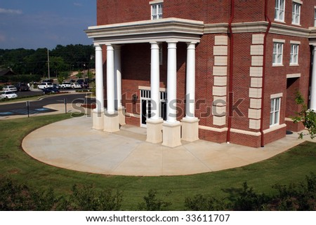 Building Exterior with Columns at the University of Mississippi