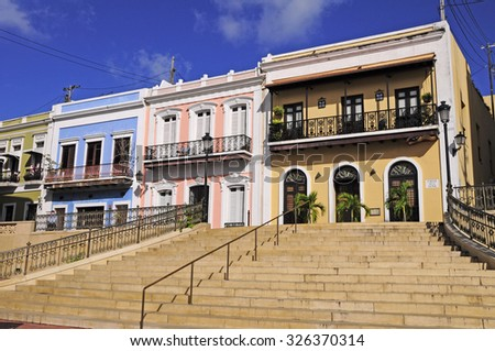 Building Exteriors, Old San Juan - stock photo