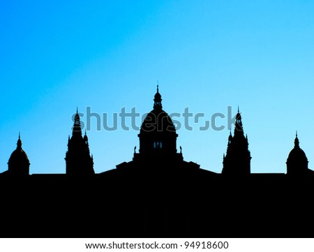 Building / Government / Architecture / Building background / National Museum of Arts ,Catalunya,Barcelona, Spain / MNAC - stock photo