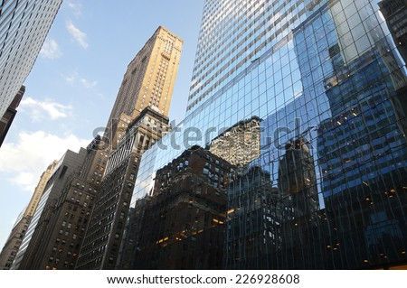 building in Manhattan - New-York - USA - stock photo