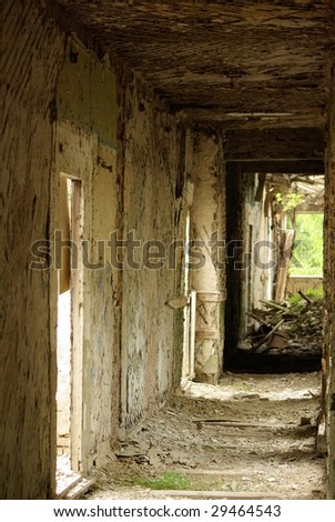 Building in ruins - stock photo