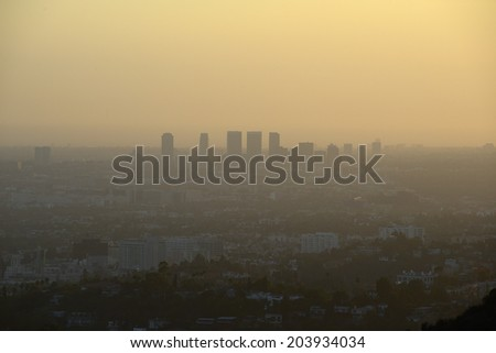 building in southern california as taken from hollywood mountain