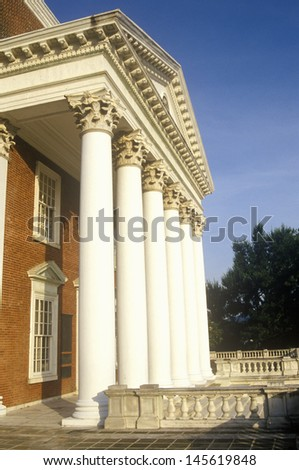 Building in the campus of University of Virginia in Charlottesville, VA - stock photo