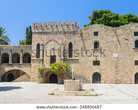 Building in the old town. Rhodes. Greece