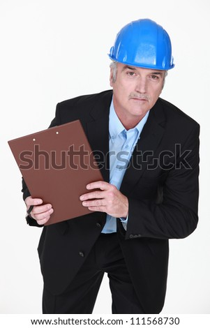 Building inspector - stock photo