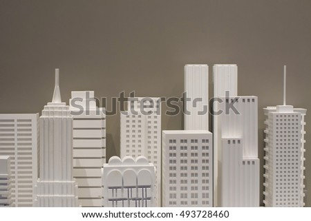 building model white background