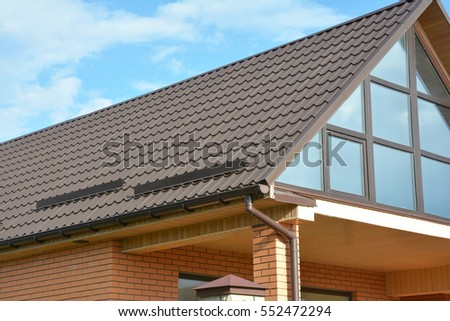 Conservatory roof stock images royalty free images for Modern roofing materials