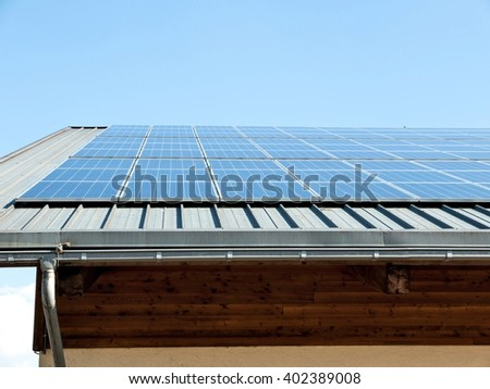 building-mounted photovoltaic solar collectors