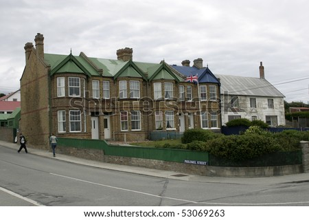 Building of city hall in Port Stanley, Falkland Islands
