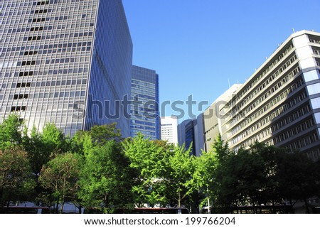 Building Of Osaka Station - stock photo