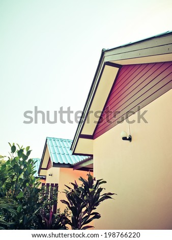 building of resort in vintage - stock photo
