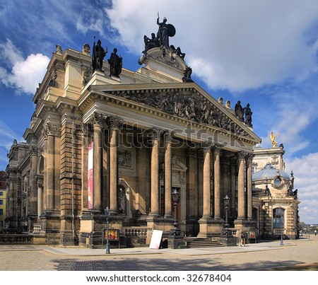 Building of the Academy of Arts and the Exhibitionhall in the Dresden, Germany.
