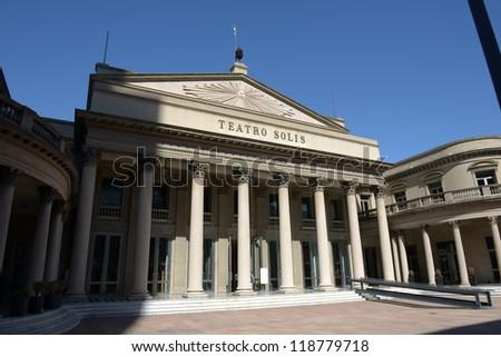 Building of theater Teatro Solis in Montevideo - stock photo