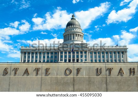 Building of Utah capitol in salt lake city