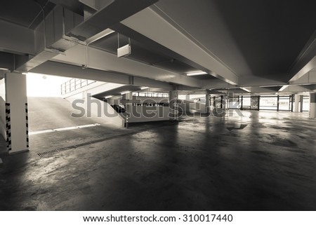 Building parking lot