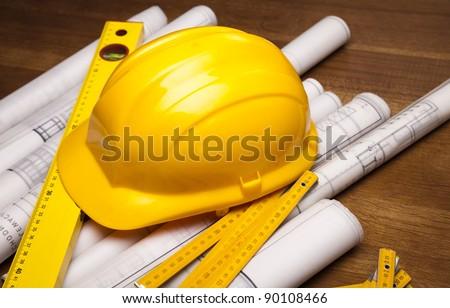 Building plans, Blueprints - stock photo