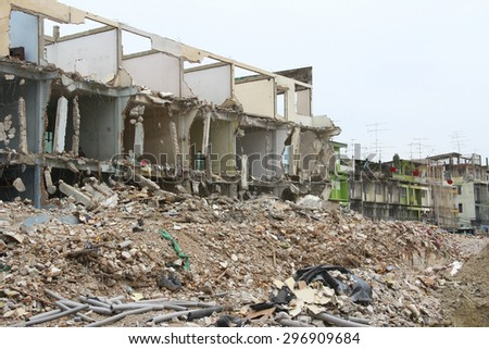 building remains. - stock photo