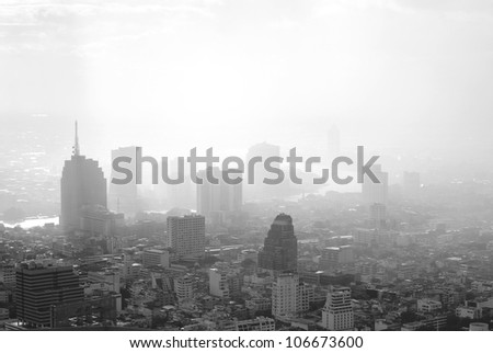 Building scape of bangkok city in Thailand - stock photo