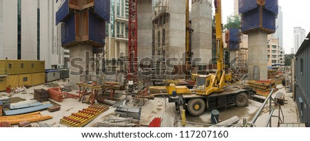 Building Site Panoramic - stock photo