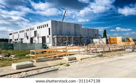 Building site under construction. Business concept. - stock photo