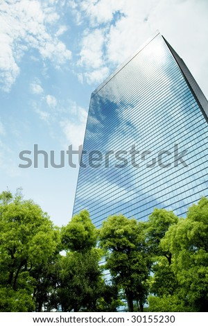 building stand in the forest - stock photo