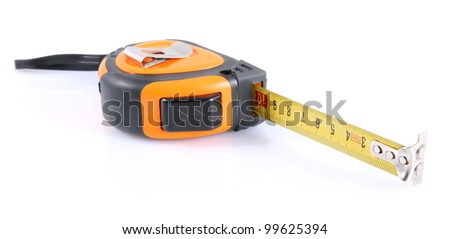 building tape isolated on white background