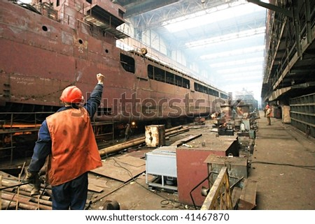 Building the multi-purpose dry cargo sea-river going vessels.
