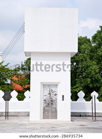 Building tower for lift - stock photo