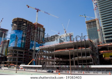 Building under construction in Vegas