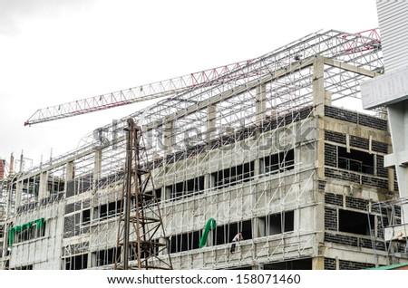 Building under constuction - stock photo