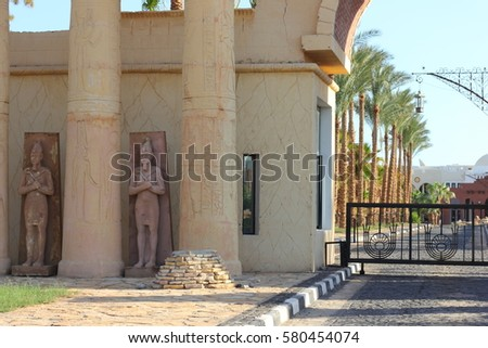 Egyptian Architecture Style egyptian pillars stock images, royalty-free images & vectors