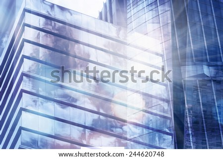 Buildings abstract background - stock photo