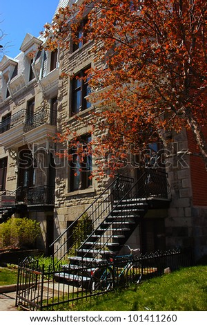 Buildings and Architecture of Montreal, Quebec - stock photo