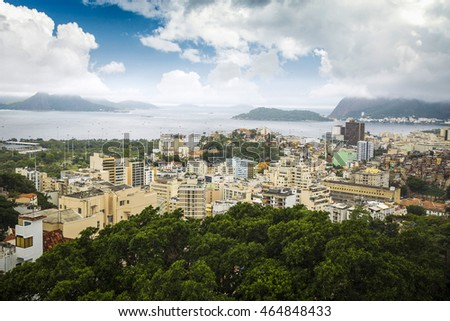 Buildings at the waterfront, Ipanema Beach, Copacabana Beach, Rio de Janeiro, Brazil