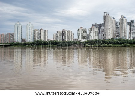 buildings by the river
