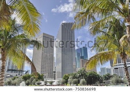 Buildings in Downtown Miami, Florida, United States