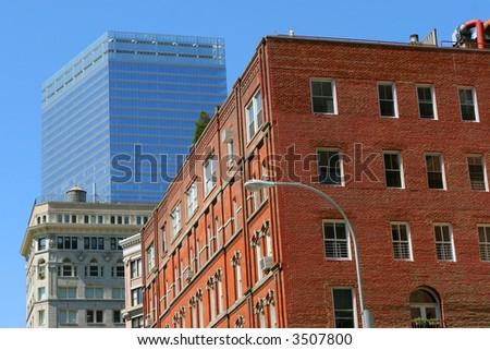 Buildings in Manhattan - stock photo