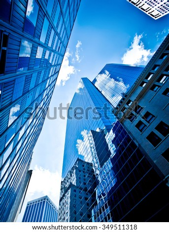 Buildings in New York City, Financial District - stock photo