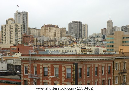 Buildings in San Francisco, California, Usa - stock photo