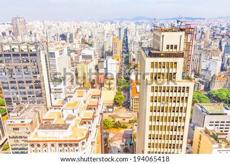 Buildings in Sao Paulo, Brazil - stock photo
