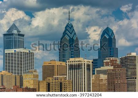 Buildings in the Center City of Philadelphia, Pennsylvania. - stock photo