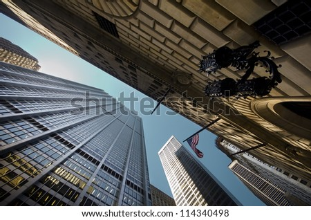 Buildings in the financial district - stock photo