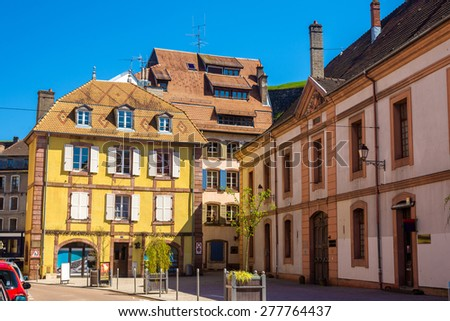 Buildings in the historic centre of Belfort, France