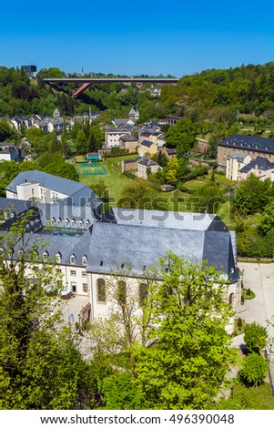 Buildings in the surrounding area of the castle of the city of Luxembourg