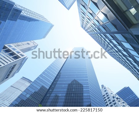 Buildings, low angle view - stock photo