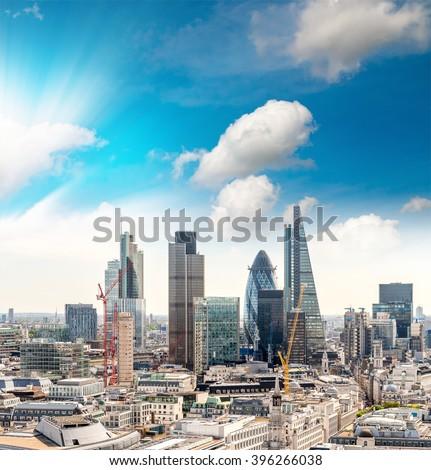 Buildings of London. - stock photo