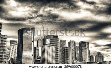 Buildings of Sydney. Wonderful city skyline.